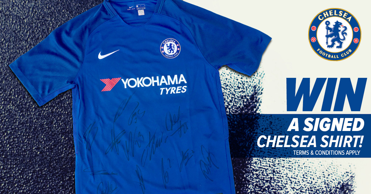 WIN a Season 2017/18 signed Chelsea Shirt with certificate of authenticity!
