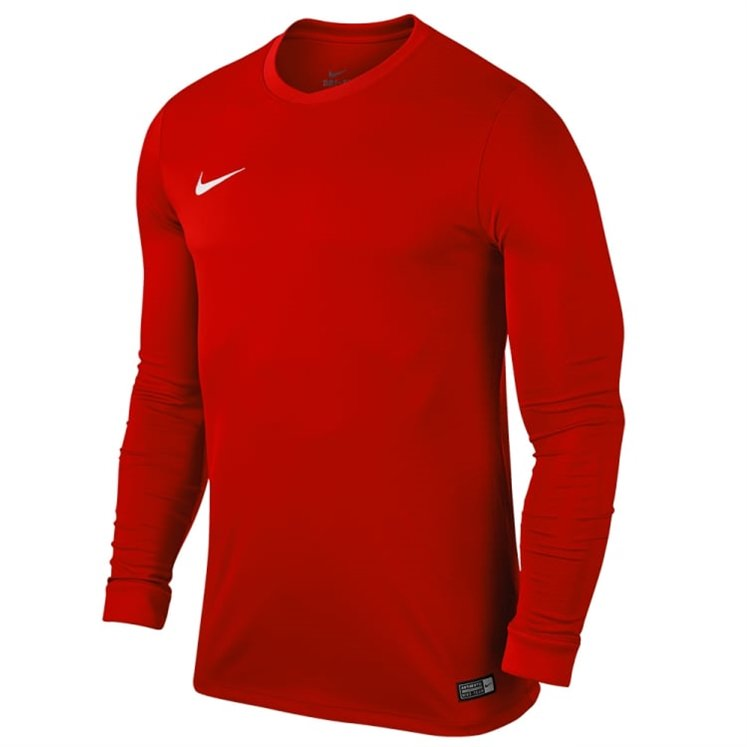Nike Park V University Long-Sleeved Training Jersey Red / White