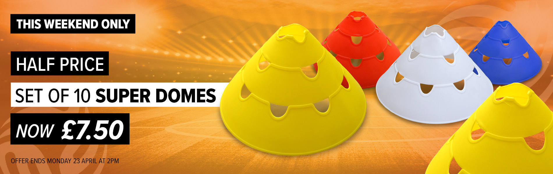 Weekend Deal - Direct Soccer Super Domes HALF PRICE