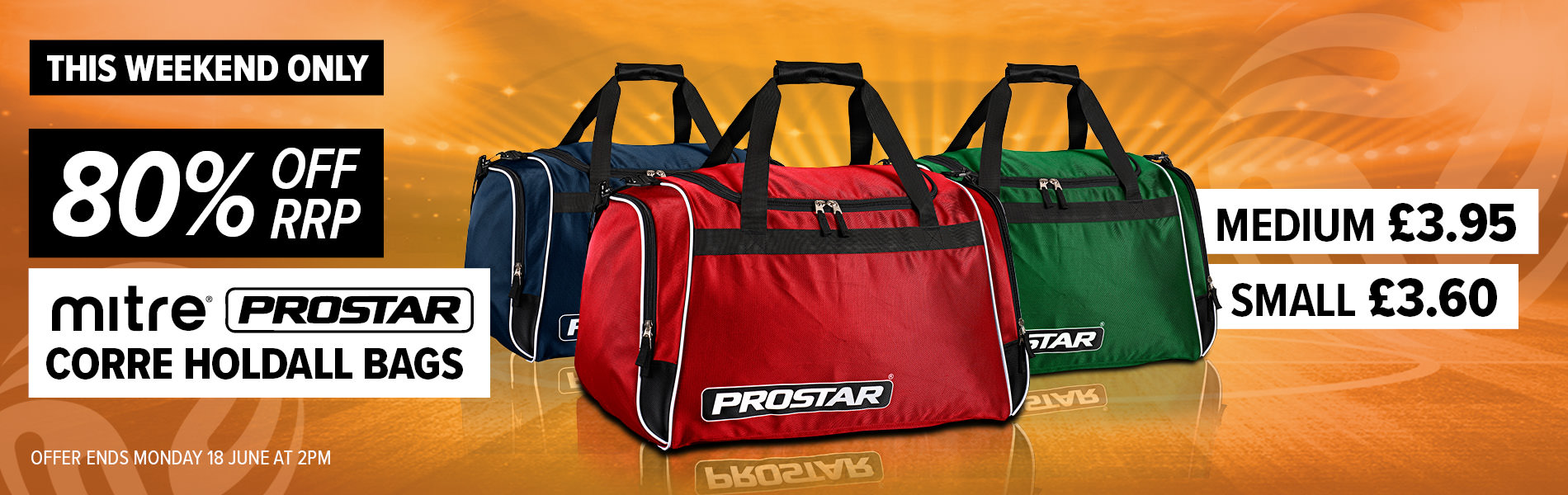 Weekend Deal - Prostar Corre Holdalls 80% off RRP