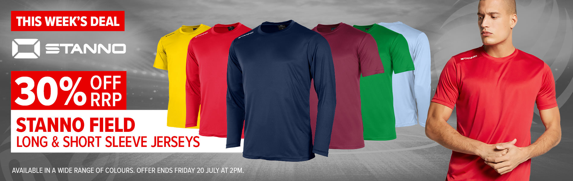 Weekly Deal - Stanno Field S/S and L/S Jerseys 30% off RRP