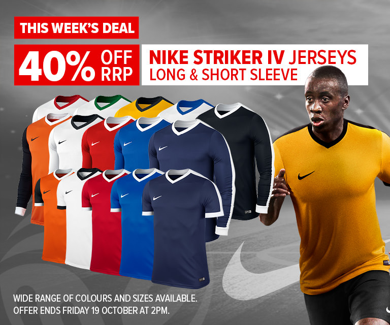 Weekly Deal - 40% Nike Striker IV Jerseys