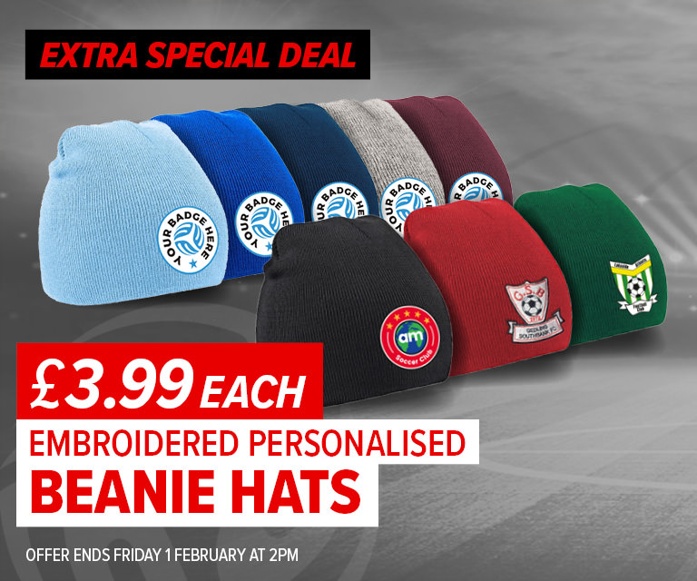 Weekly Deal - Beanie Hat with Embroidered Badge