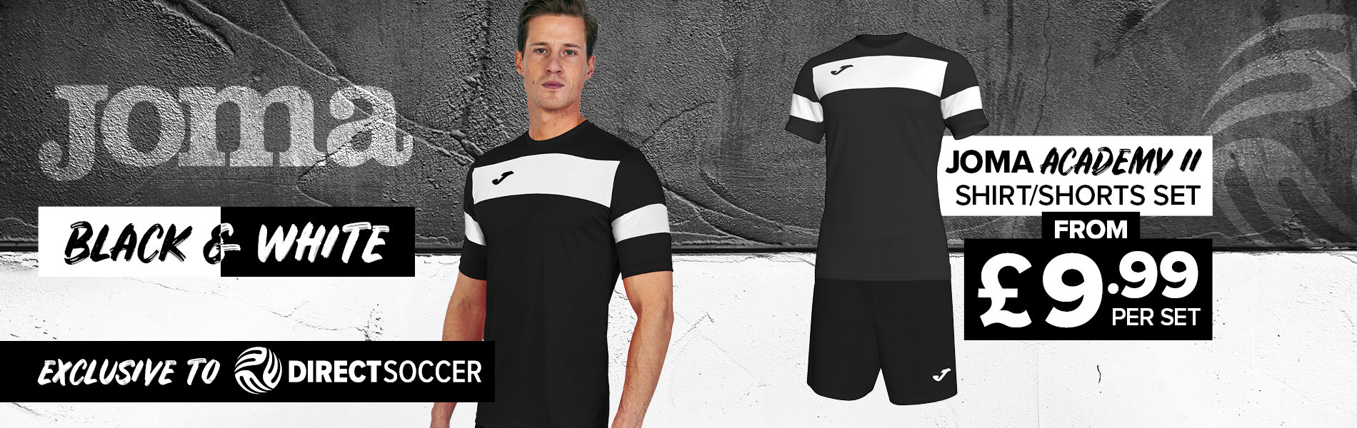 Joma Academy II Black and White set