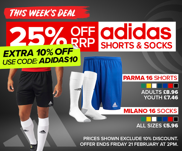 adidas shorts and socks